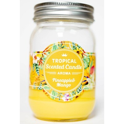 Pineapple & Mango Tropical Scented Candle