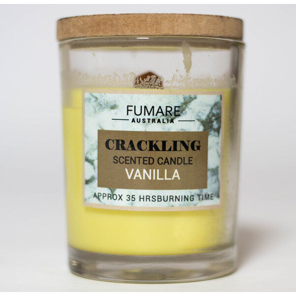 Vanilla Scented Candle - crackling - Fumare Australia