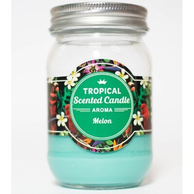 Melon Tropical Scented Candle