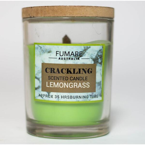 Lemongrass Scented Candle - crackling - Fumare Australia