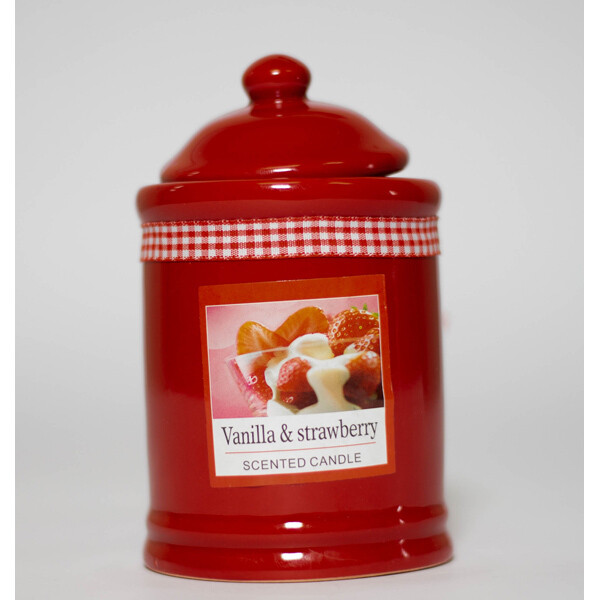 Vanilla & Strawberry Scented Candle