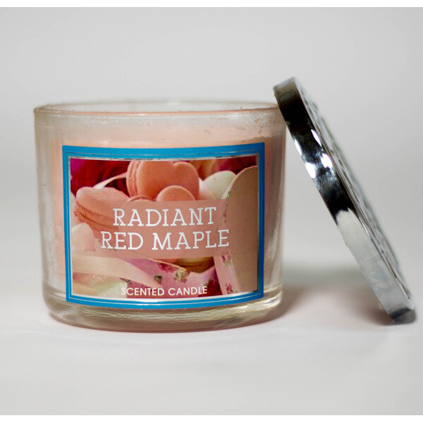 Radiant Red Mable Candle
