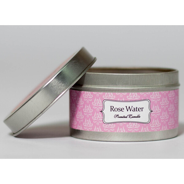 Rose Water Scented Candle