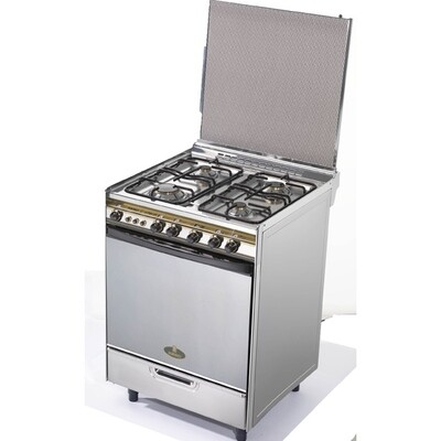 Kiriazi Oven 4 burners - Stainless Steel- 6400 Full Safety