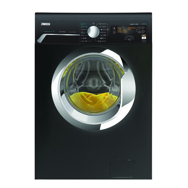 Zanussi Front Load Automatic Washing Machine, 7 KG, Black- ZWF7240BXV