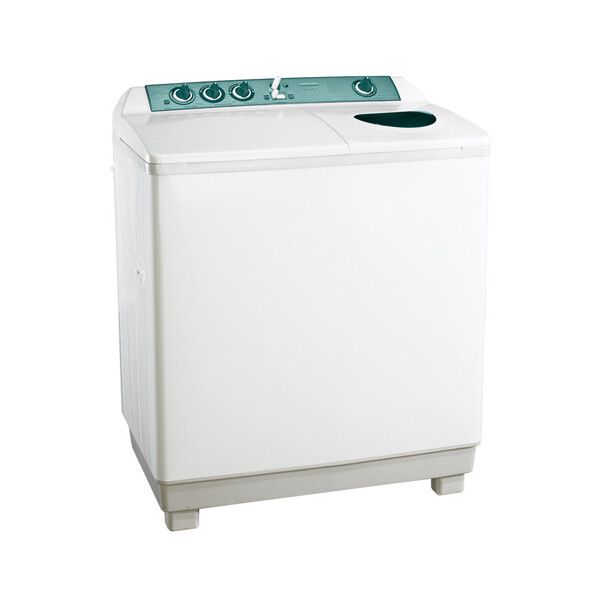 TOSHIBA Washing Machine Half Automatic 10 Kg In White Color with Two Motors VH-1000S