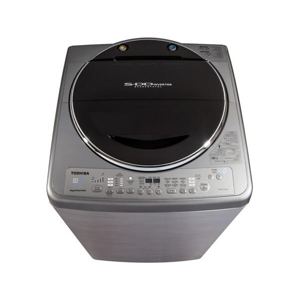 TOSHIBA Washing Machine Top Automatic 13 Kg With SDD Inverter Motor, Silver Color AEW-DC1300SUP(SS) غسالة ملابس توشيبا فوق أوتوماتيك 13 كيلو مزودة بموتور SDD انفرتر لون سيلفر