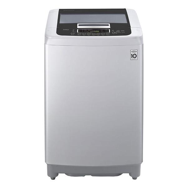 LG Top Loading Digital Washing Machine, 13.2 KG, Silver - T1369NEFTF غسالة ملابس ال جي تحميل علوي ديجيتال، سعة 13.2 كيلو، فضي