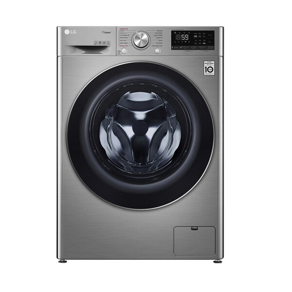 LG WASHING MACHINE 9KG 1400 RPM 6 MOTIONS STEAM SILVER STONE F4R5VYG2T