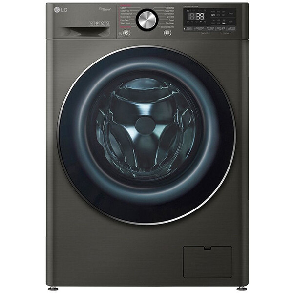 LG F4R5VYG2E Vivace LED Display Steel Washing Machine, 9 kg - Black