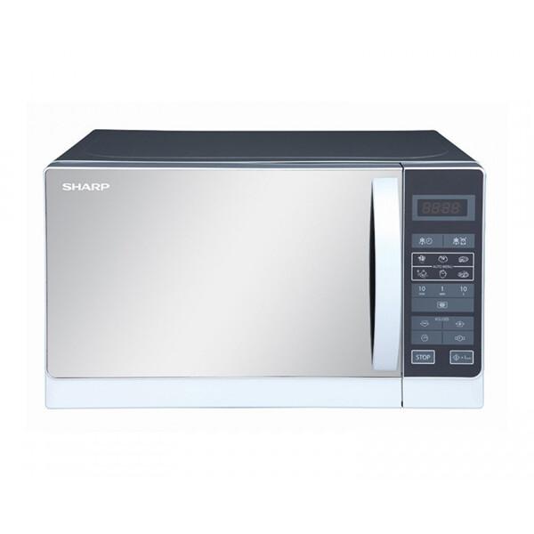 SHARP Microwave 20 Litre , 800 Watt in Silver Color With 6 Cooking Menus R-20MR(S) ميكروويف شارب سعة 20 لتر ، 800 وات لون سيلفر مزود ب 6 قوائم للطهي