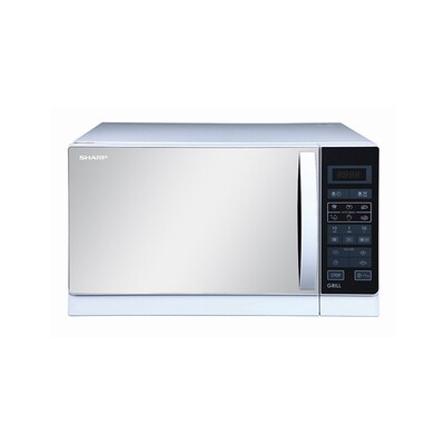 SHARP Microwave 25 Litre , 900 Watt in White Color With Grill and 6 Cooking Menus R-750MR(W)