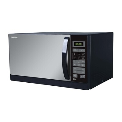 SHARP Microwave 25 Litre , 900 Watt in Black Color With Grill and 6 Cooking Menus R-750MR(K)
