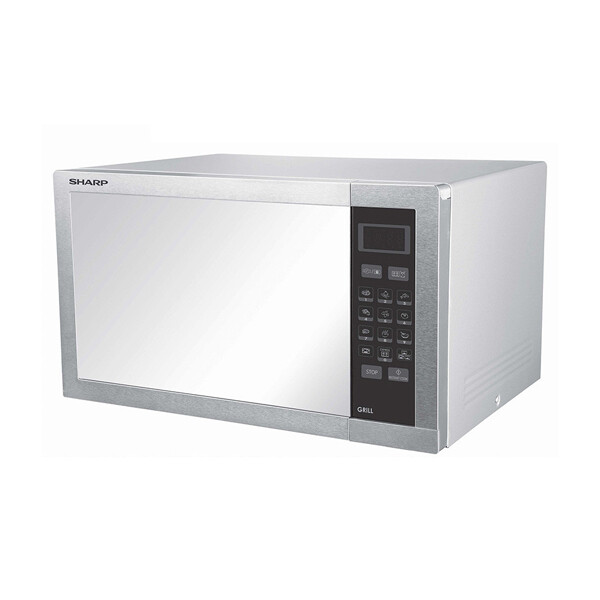 SHARP Microwave 34 Litre , 1000 Watt in Stainless Color With Grill and 9 Cooking Menus R-770AR(ST)