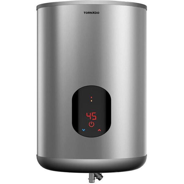 TORNADO Electric Water Heater 55 Liter - Digital Screen In Silver Color  - EWH - S55 CSE - S سخان تورنيدو 55 لتر ديجيتال حلة استانلس - سيلفر