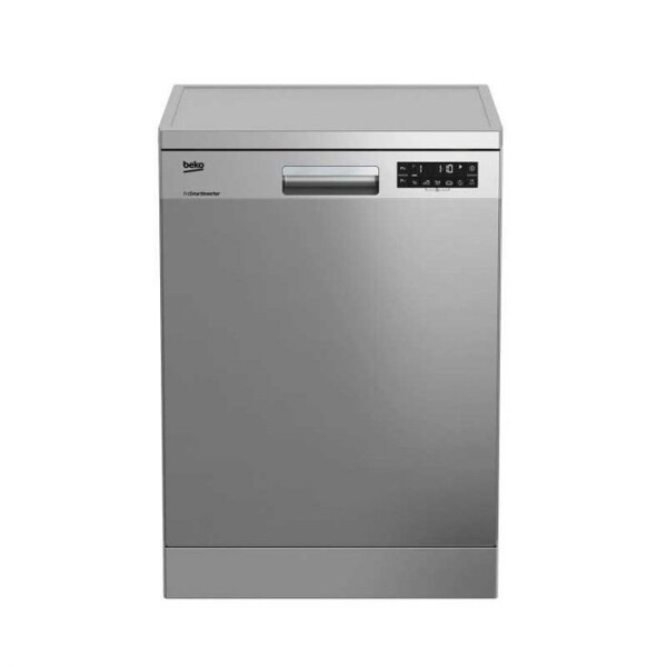 Beko Dishwasher, 15 Persons, 8 Programs, Inverter Motor, Silver- DFN28520X غسالة أطباق بيكو، 15 فرد، 8 برامج، موتور انفرتر، فضي