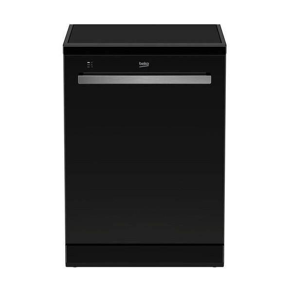 Beko Den48520Gb Dishwasher - 15 Places - 8 Programs - Black غسالة اطباق 15 فرد 8 برامج من بيكو -مؤشر ضوئي ليد، أسود