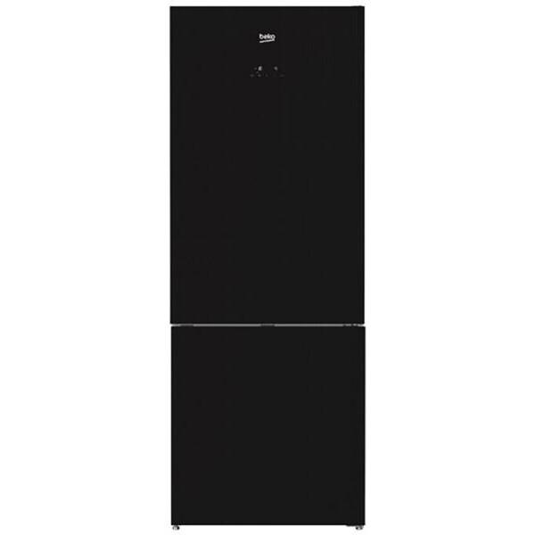 ثلاجة كومبي ديجيتال من بيكو 454 لتر- نوفروست- زجاج، اسود