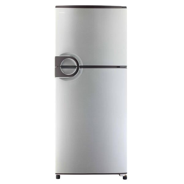 TOSHIBA Refrigerator No Frost 355 Liter, 2 Doors In Silver Color With Circular handle GR-EF40P-J-S ثلاجة توشيبا نوفروست سعة 355 لتر ، 2 باب لون سيلفر مزودة بيد دائرية