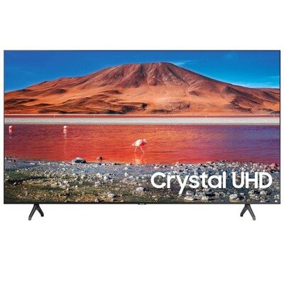 UA50TU7000UXEG تلفزيون سمارت سامسونج 50 بوصة LED، بدقة 4K UHD كريستال مع ريسيفر داخلي