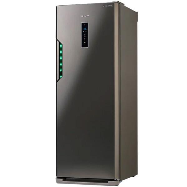 SHARP Deep Freezer Inverter Digital No Frost 7 Drawers, 300 Liter in Stainless Color FJ-EC27(ST) ديب فريزر شارب انفرتر ديجيتال نوفروست 7 درج، 300 لتر لون استانلس