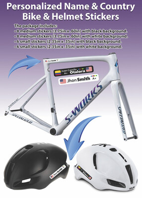 26 Count Bike Name Stickers