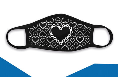 Triple Ply Face Mask - Hearts Chain