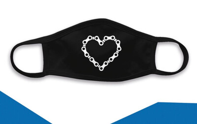 Triple Ply Face Mask - Heart Chain