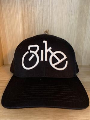Back Mesh Bike White- Black Hat