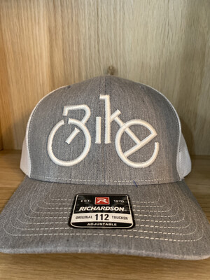 Back Mesh Bike White- Gray Hat