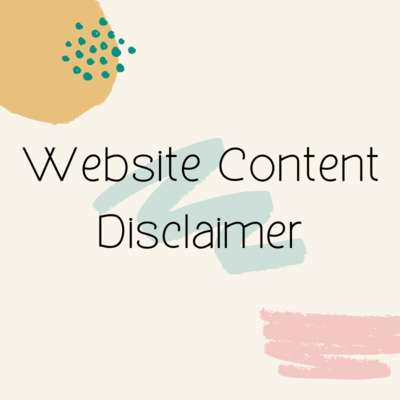 Website Content Disclaimer