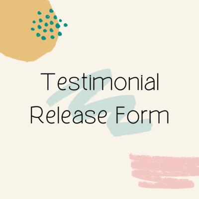 Testimonial Release Form