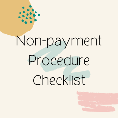 Non-payment Procedure Checklist