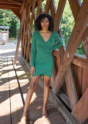 HYFVE Wrap Dress - Deep Green