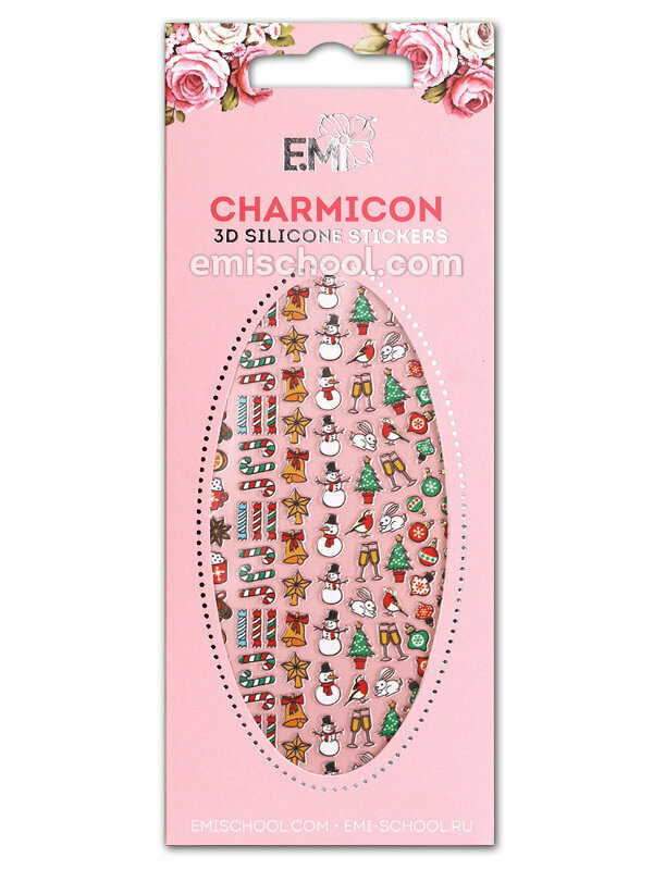Charmicon 3D Silicone Stickers #69 Merry Christmas