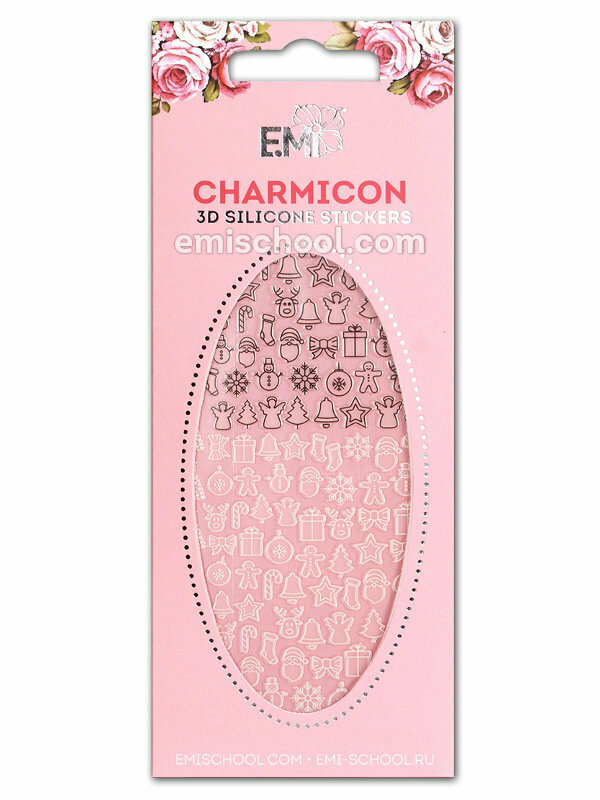 Charmicon 3D Silicone Stickers #71 Merry Christmas