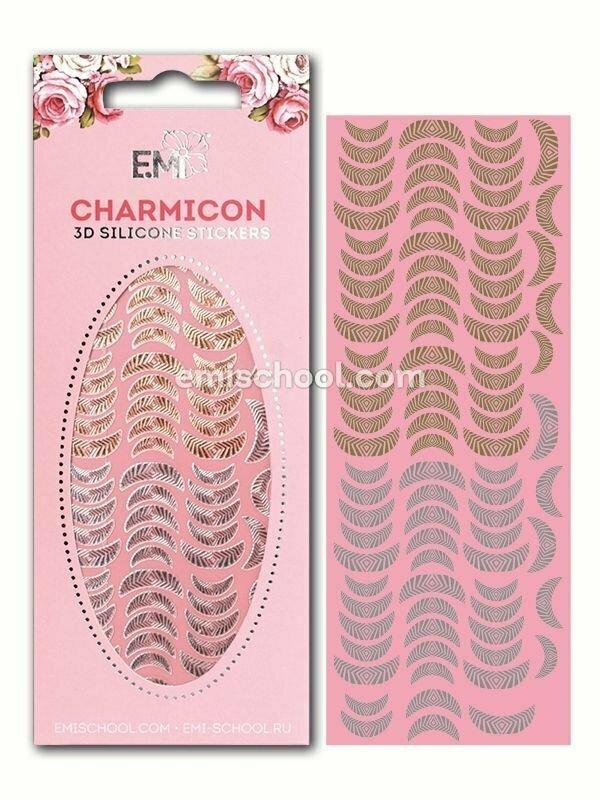 Charmicon 3D Silicone Stickers Lunula #15 Gold/Silver