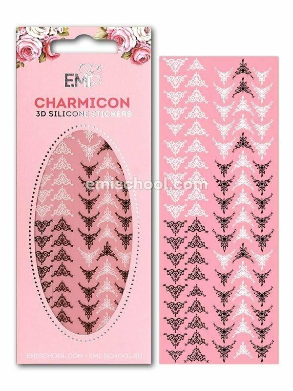 Charmicon 3D Silicone Stickers Lunula #22 Black/White