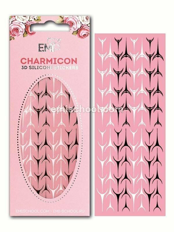 Charmicon 3D Silicone Stickers Lunula #36 Black/White