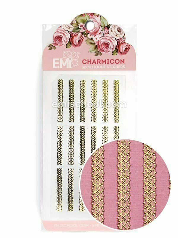 Charmicon 3D Silicone Stickers Ornament Gold #4