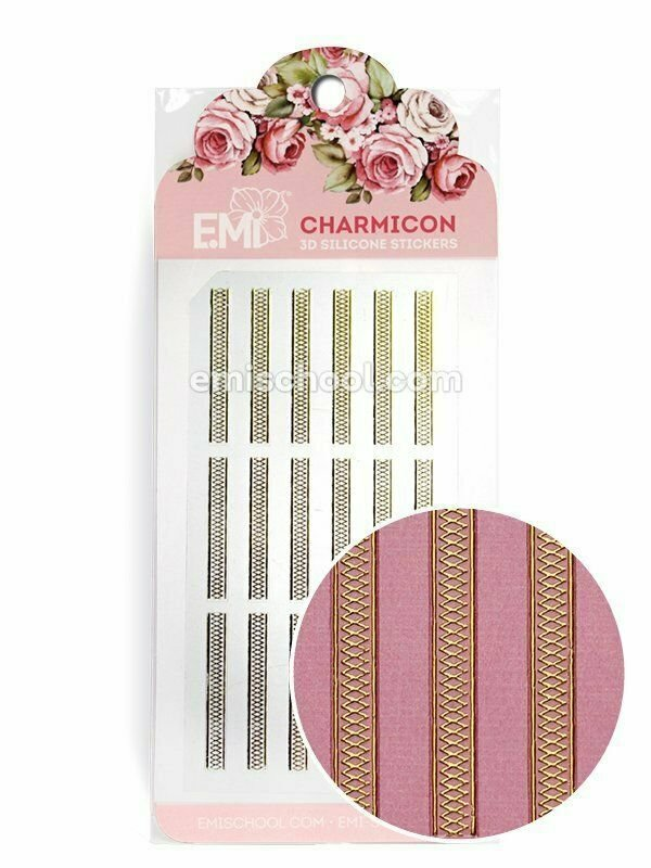 Charmicon 3D Silicone Stickers Ornament Gold #5