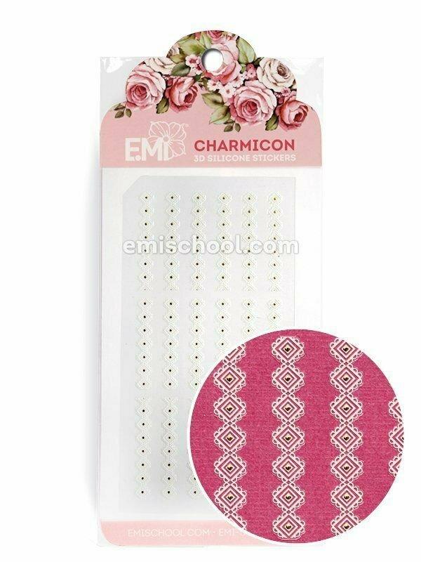 Charmicon 3D Silicone Stickers Ornament White #5