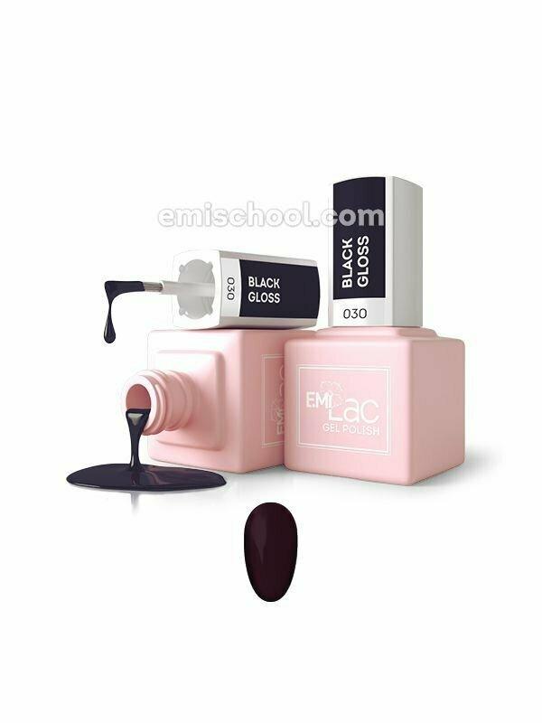E.MiLac Black Gloss #030, 9/15 ml.