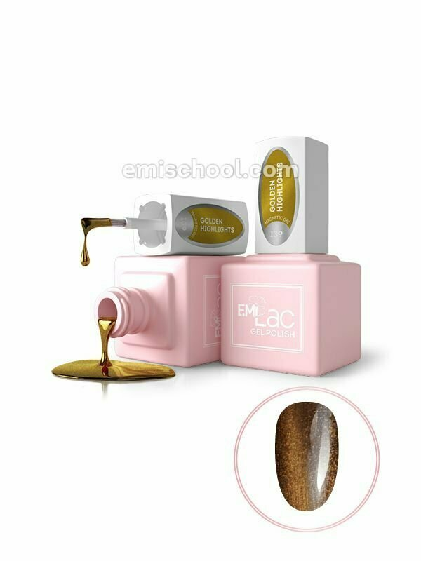 E.MiLac MG Golden Highlights #139, 9 ml.