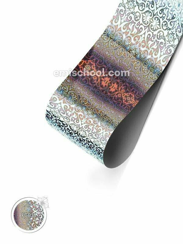 Foil holographic silver Arabesque, 1.5 m