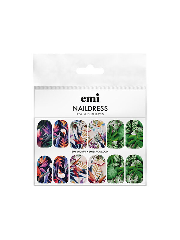 Naildress Slider Design #64 Tropical Leaves