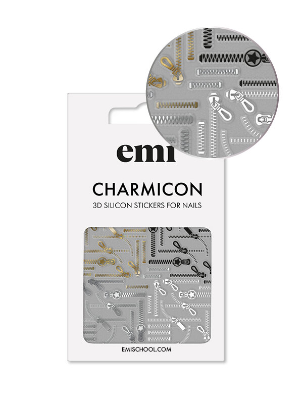 Charmicon 3D Silicone Stickers #170 Zipper