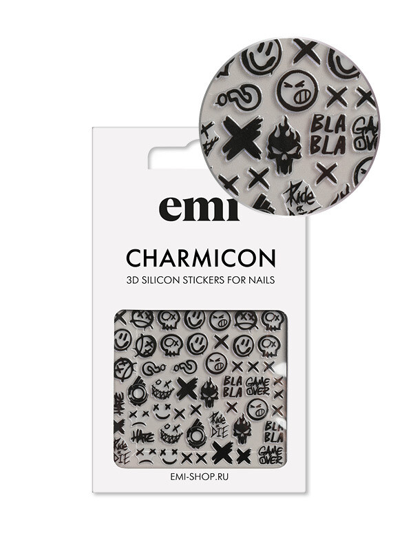 Charmicon 3D Silicone Stickers #181 Smile