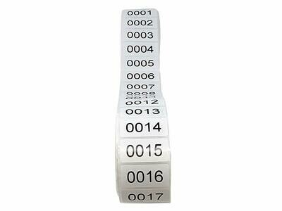 Tag-A-Room Inventory Labels Consecutive Number Stickers (1 Roll)