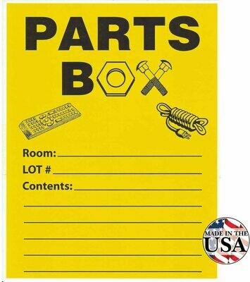 Parts Box Label- 10 Count